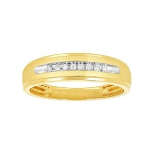 Mens 10k Yellow Gold Wedding Band