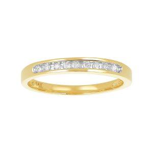 14k Yellow Gold Channel Setting Diamond Wedding Band