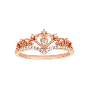14 Karat Rose Gold Tiara Amor Diamod Ring