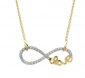 10k Yellow Gold Infinity with Diamonds