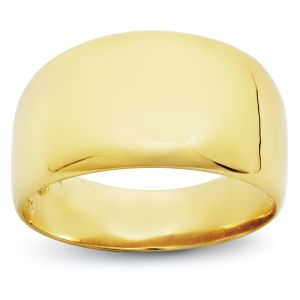 14k Yellow Gold High Polished Dome Fashion Ring