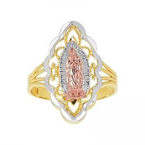 14k Gold Tri-Color Lace Guadalupe Ring