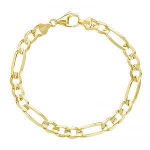 Men's 14k Yellow Gold 7.3mm Figaro Bracelet