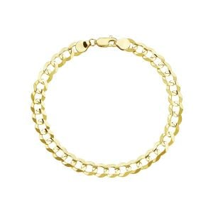 Men's 14k Yellow Gold 7 mm Curb Link Bracelet