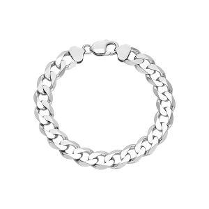 Men's Silver 11.6 mm Figaro Bracelet
