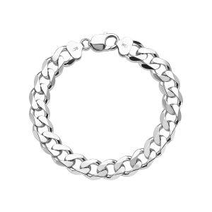 Men's Sterling Silver 11.6mm Curb Bracelet