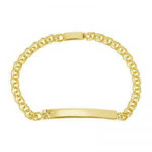 14k Yellow Gold Diamond Accent Baby ID Bracelet