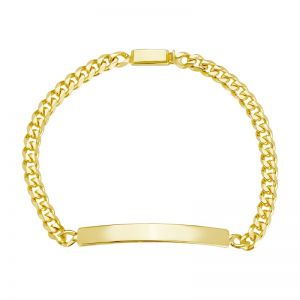 14k Yellow Gold Curb Link Baby ID Bracelet