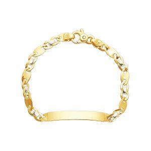 14k Gold Two-Tone Fancy Link Baby Bracelet