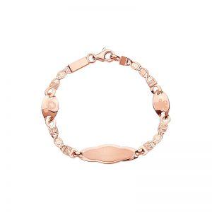 14k Rose Gold Newborn Baby ID Bracelet