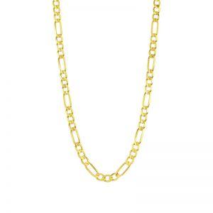 14k Yellow Gold 7.3 mm 24 Inch Figaro Chain