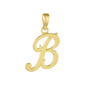 "14k Yellow Gold High Polish Letter ""B"" Pendant"