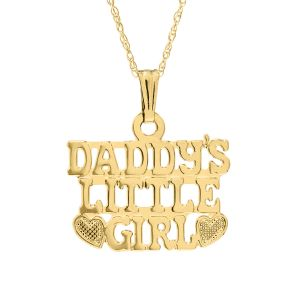 14k Yellow Gold Daddy's Little Girl Necklace