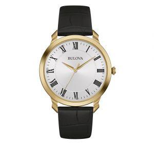 Men's Bulova Classic Black Leather Watch 97A123