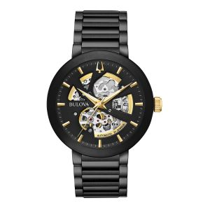 Men's Bulova Black Ion Plated Modern Automatic Collection Watch