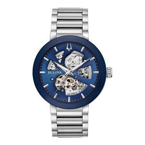 Men's Blue Open Aperture Modern Automatic Collection Watch